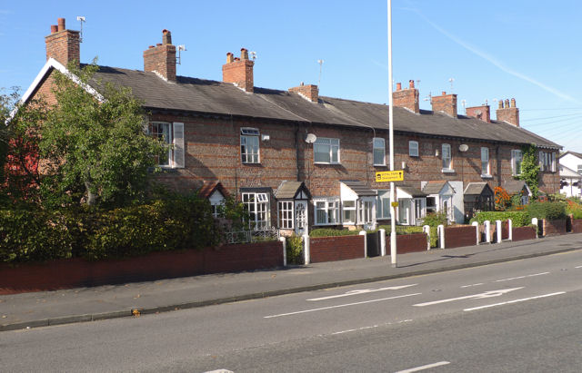 Terrace of cottages on Wilmslow Road
