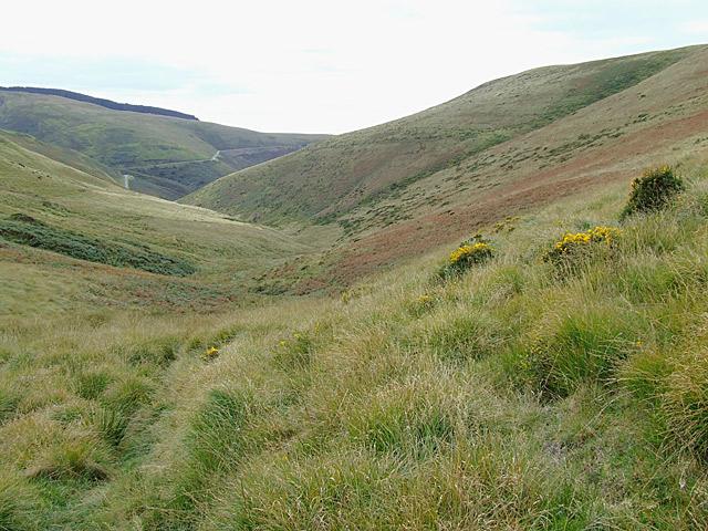 Looking down Cwm Gwrach, Powys