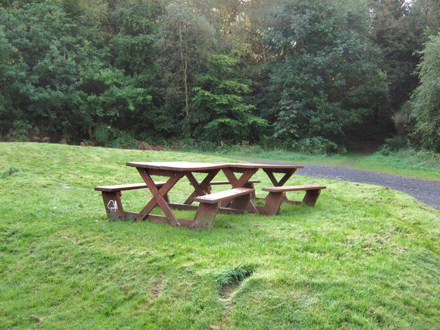Picnic area, Dalbeattie Town Woods