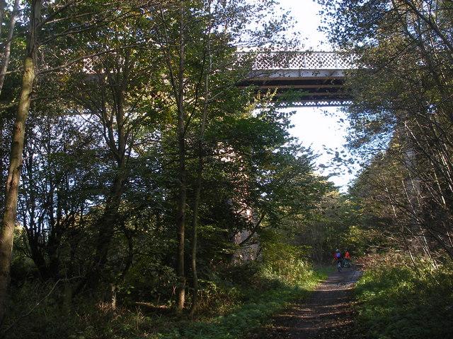 Rail Bridge over the Trans Pennine Trail