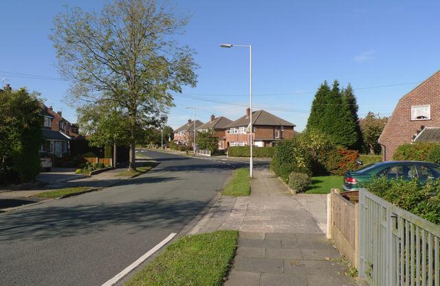 A short section of Queensway, Heald Green