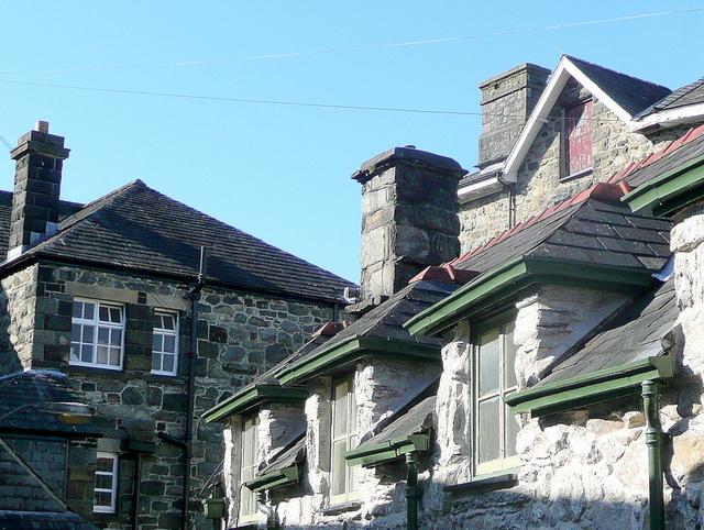 Chunky stone buildings of Dolgellau