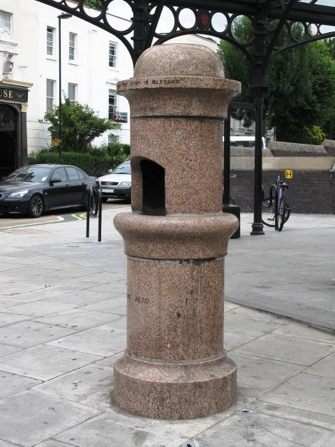 Marble drinking water fountain, Kentish Town Road / Leighton Road, NW5