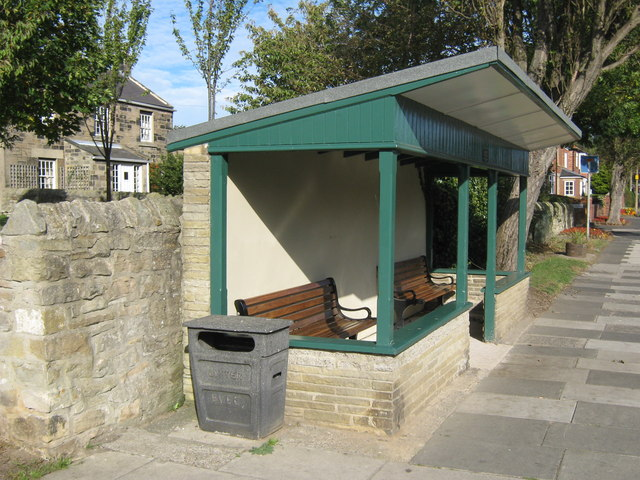 Bus stop shelter Holywell Village Northumberland