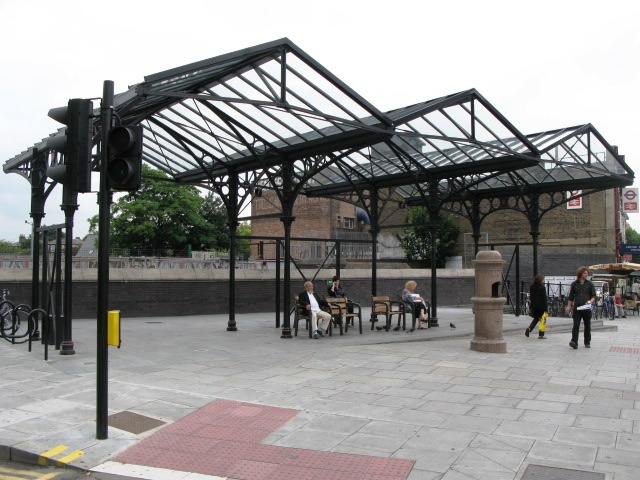 Canopied open space, Kentish Town Road / Leighton Road, NW5