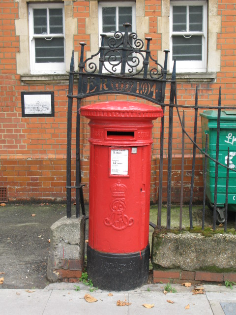 Edward VII postbox, (former) Sorting Office, Leighton Road, NW5