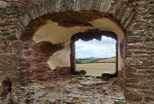 View from kitchen window, Raglan Castle