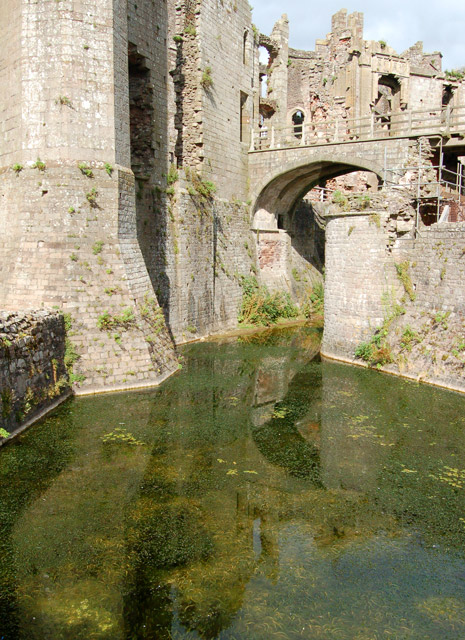 Reflections in the moat, Raglan Castle