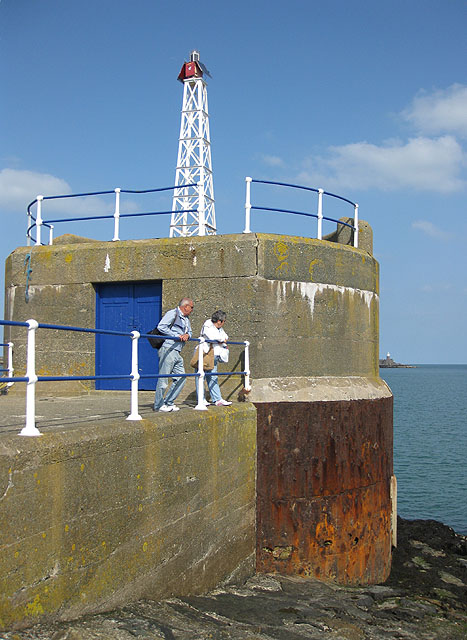 Two beacons, Fishguard harbour