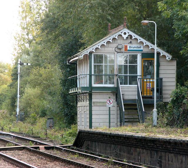 Brundall railway station - signal box