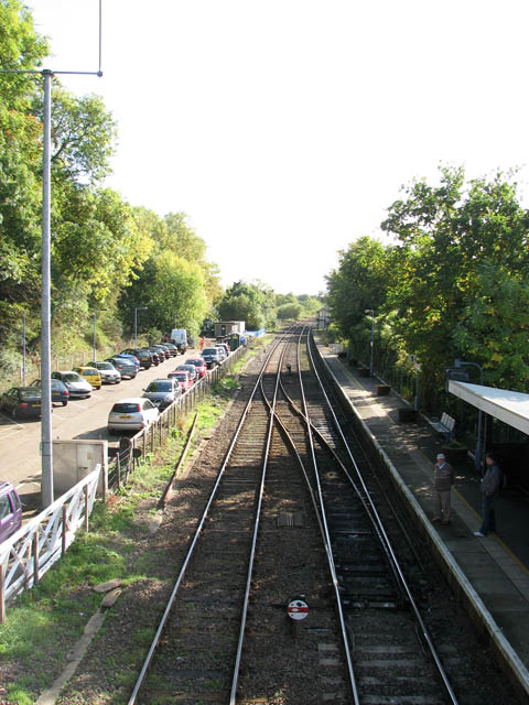 Brundall railway station - view SE from footbridge