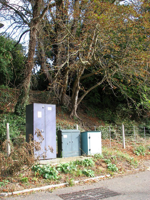 Relay boxes at entrance to Brundall station car park
