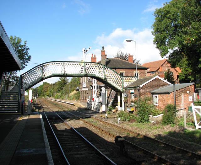 Brundall railway station - footbridge over railway line