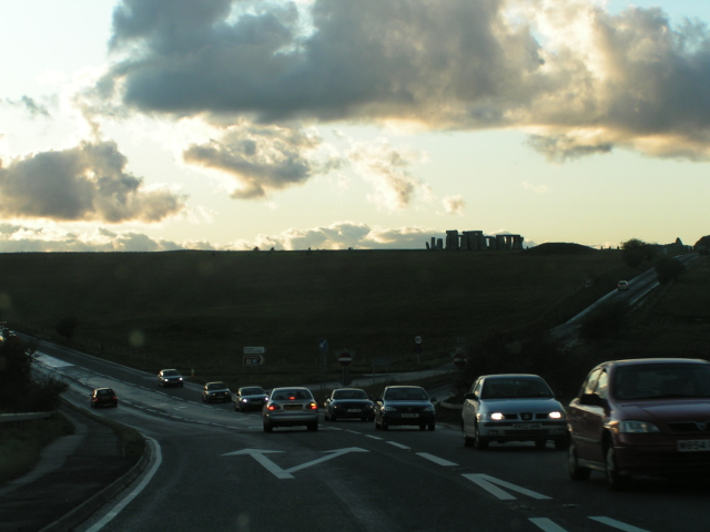 A303 heading west, approaching Stonehenge