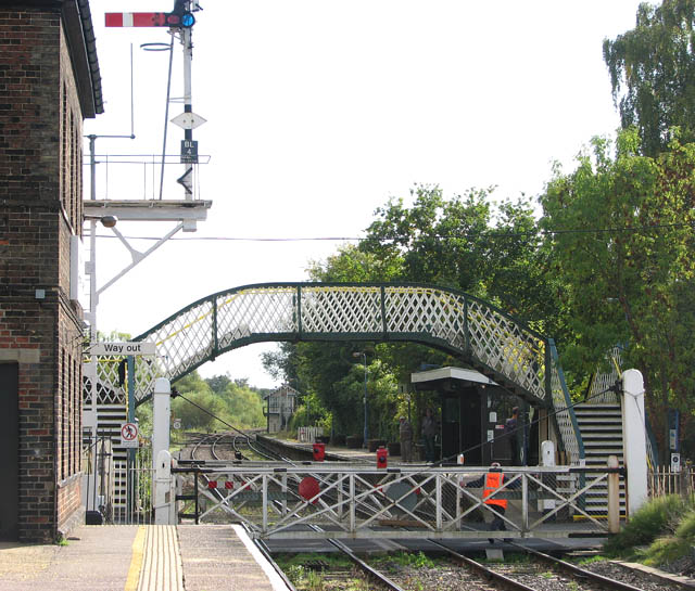Brundall railway station - manually operated crossing gates
