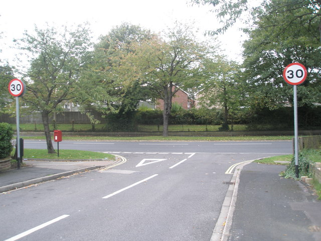 Junction of Larkhill  and Copnor Roads