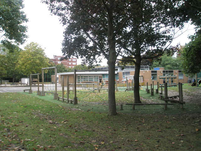 Playpark in front of Gatcombe Park Primary School