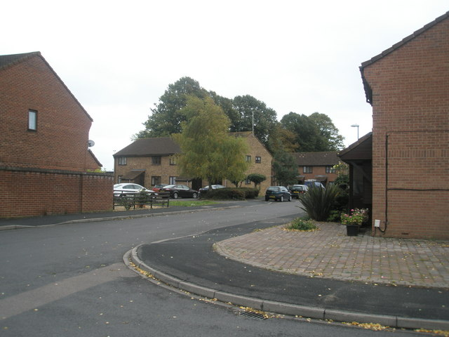 Looking from Larkhill Road into Honeywood Close