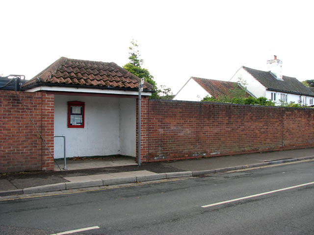 A bus shelter on The Street