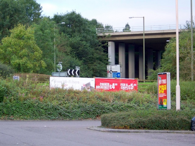 Motorway bridge near Johnstonebridge