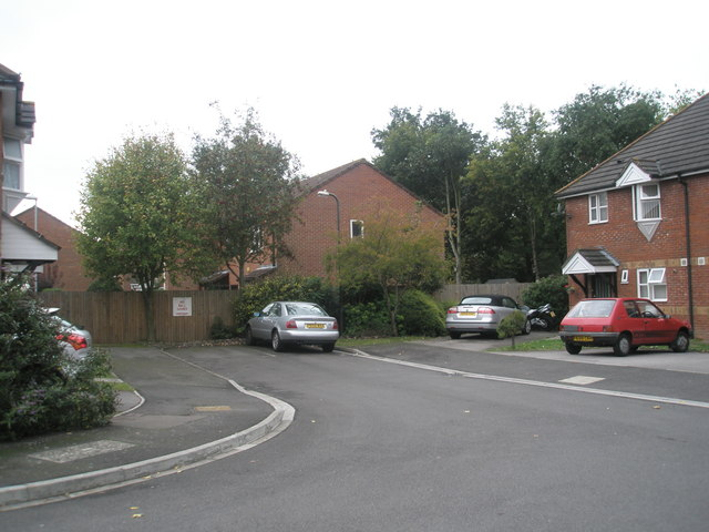 Parked cars in Breech Close