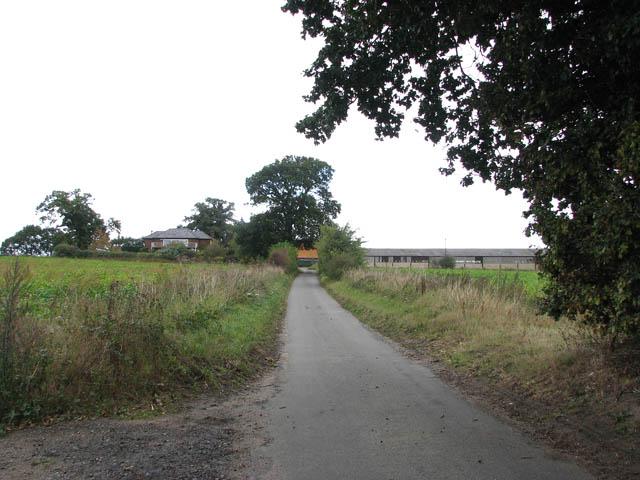 View north along Church Road