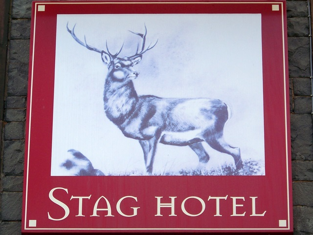 Sign for the Stag Hotel