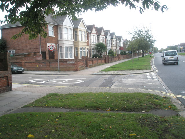 Junction of Copnor Road and Wesley Grove