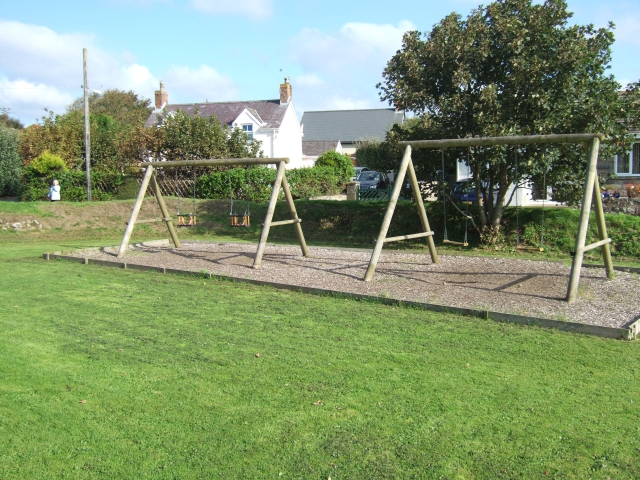 Playground swings at Marloes