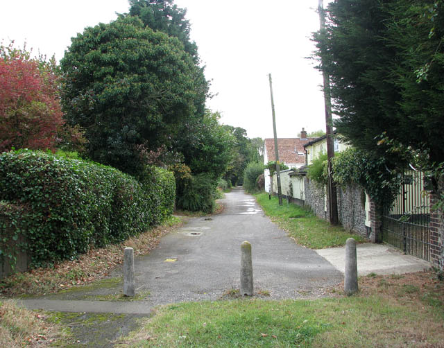 View south along Mill Lane
