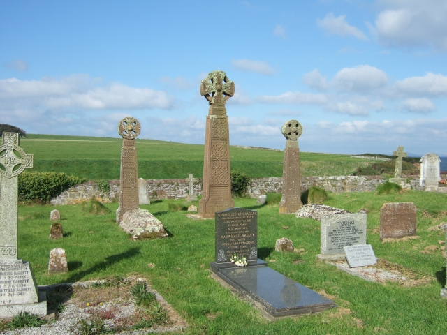 Part of churchyard at St Bride's