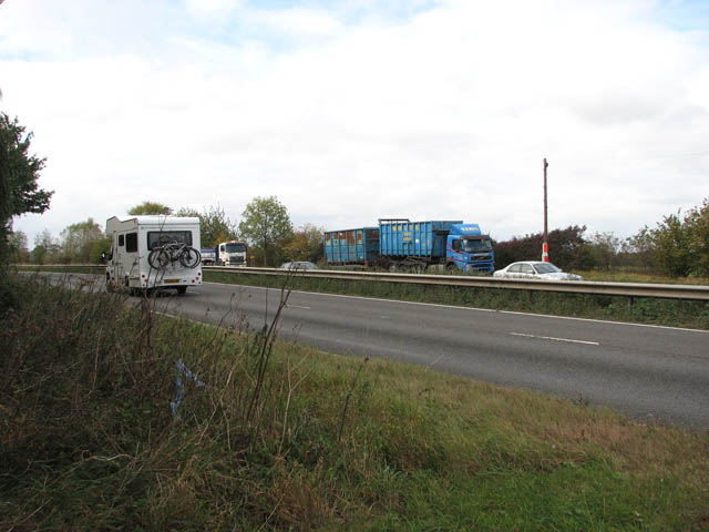 View across the A47