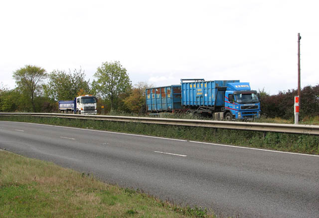 Lorries parked in layby on the A47