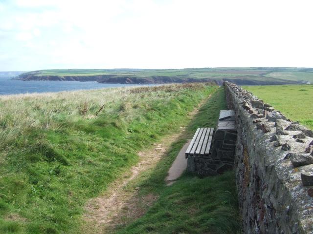 The coast path west of St Bride's Haven
