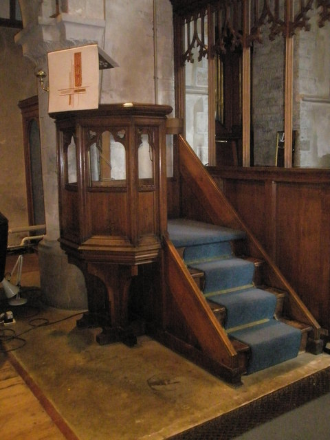 The pulpit at St Mary, Buriton