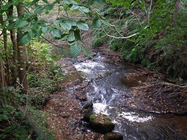 River flowing over bedrock