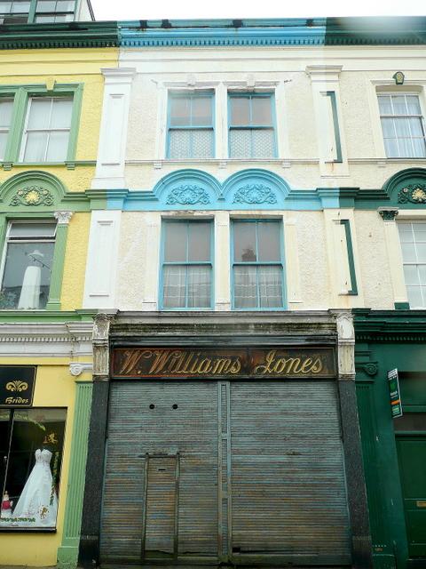 Old shop in Bangor Street, Caernarfon