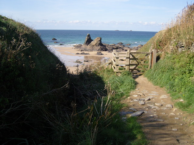 South West Coast Path at Porthcothan