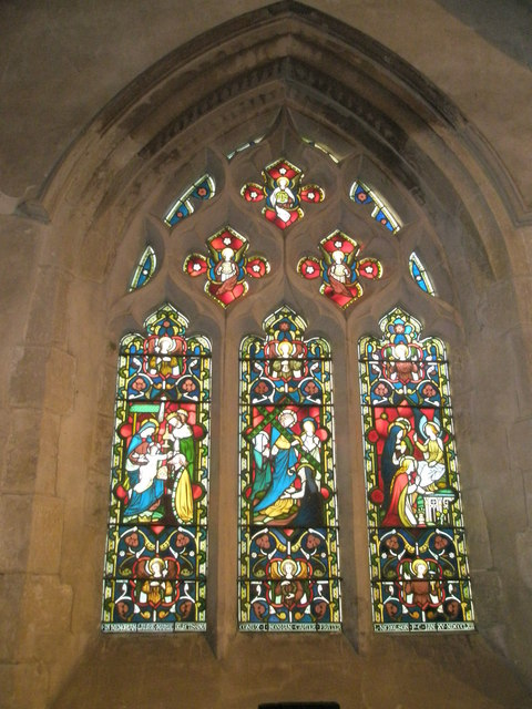 Stained glass window on the south wall at St Mary, Buriton (2)