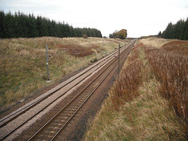 Edinburgh - Carstairs Junction railway
