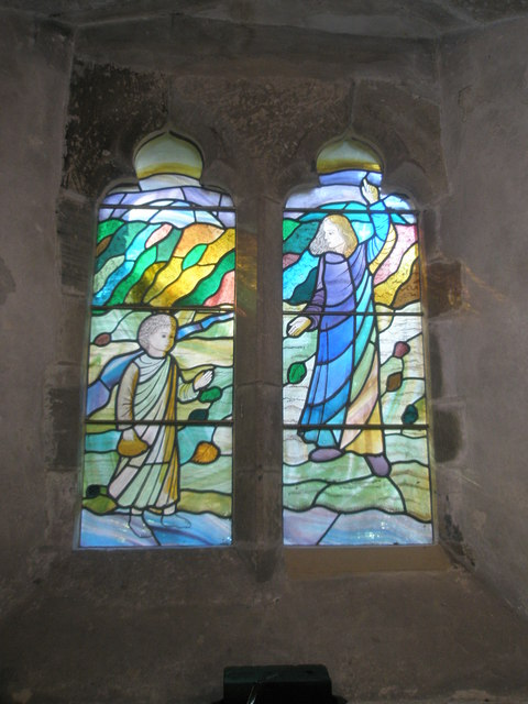 Stained glass window on the south wall at St Mary, Buriton (3)