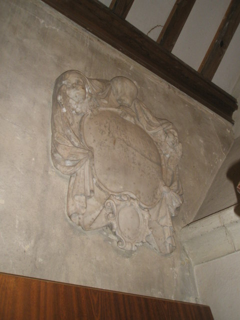 Ancient memorial within St Mary, Buriton