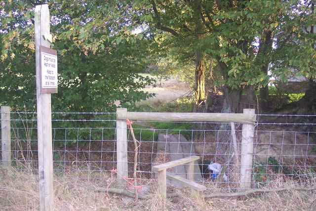 Stile and footbridge near Woodlands Park