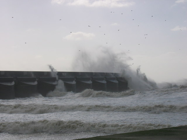 Rough seas at Brighton Marina