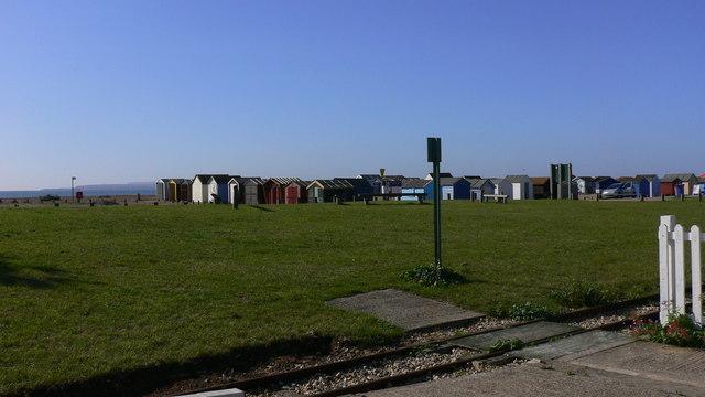 Beach Huts near Hayling Light Railway
