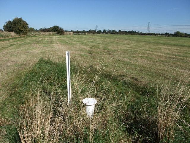 Sampling well on edge of Smithy Marsh
