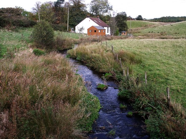 The Cameron Burn and cottage at Glenhove.