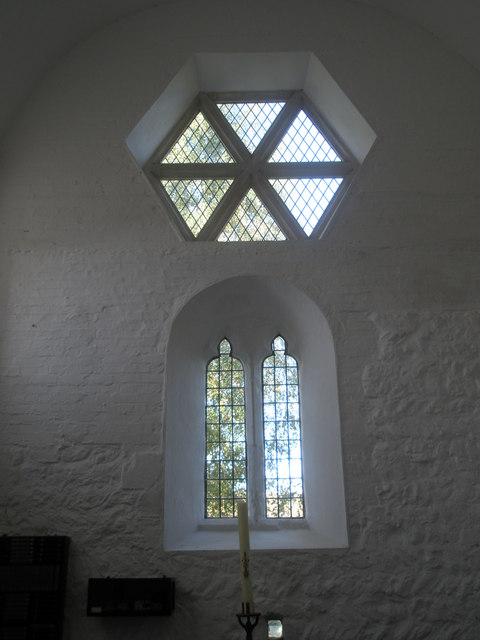 Windows on the west wall at St Paul's, Elsted