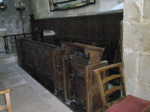 Choir stalls within St Paul's, Elsted