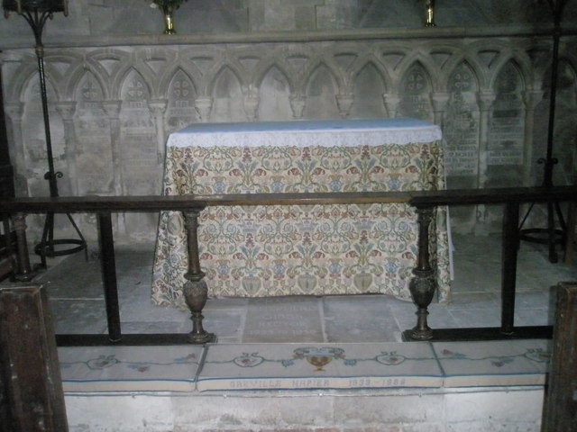The altar at St Paul's, Elsted